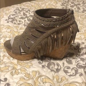 Not Rated fringe wedges from The Buckle